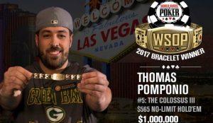 WSOP 2017: Negreanu runner up, Pomponio trionfa al Colossus