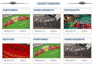 Casinò Sanremo online bonus benvenuto 520€