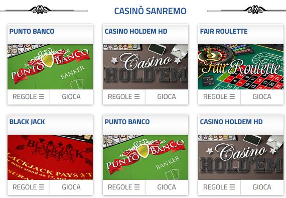 Casino sanremo bonus benvenuto