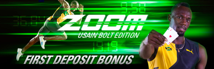 "PokerStars lancia bonus poker 15€ ""Usain Bolt"""