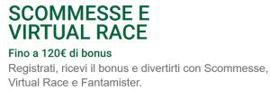 Bonus scommesse 120€ Sisal Matchpoint