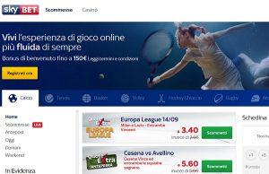 SkyBet scommesse: nuovo bonus di benvenuto 150€