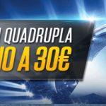 Bonus scommesse Champions NetBet cashback 30€