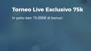 Roulette Blackjack Live, torneo StarCasinò 75.000€!