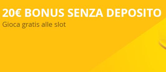Bonus senza deposito slot machine