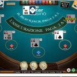Blackjack online StarCasinò: come giocare